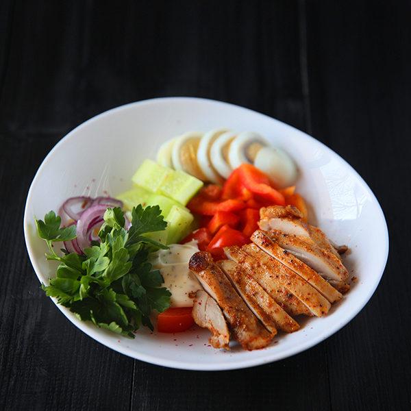 Салат с курочкой Лондонский 1