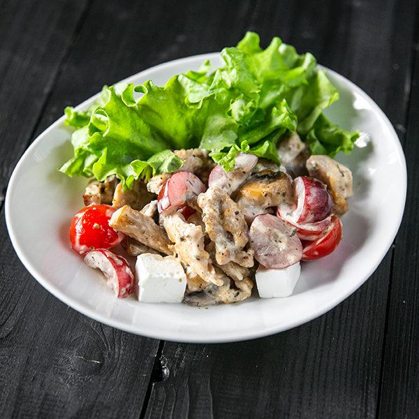 Салат с курицей и виноградом 1