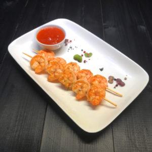 Тигровые креветки с нежно -пикантным соусом