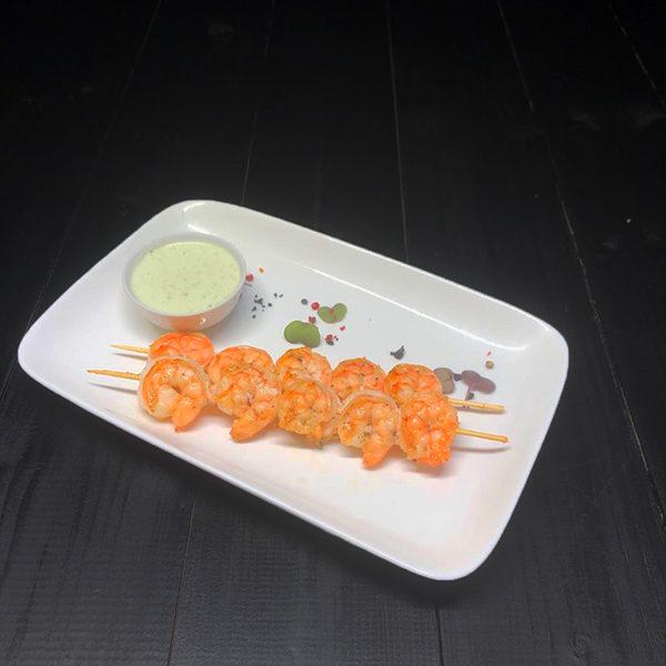 Тигровые креветки с сливочным соусом 1