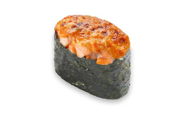 Запечённый гункан с лососем 1