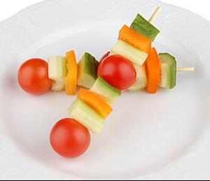 Канапе из свежих овощей(заказ от пяти штук)