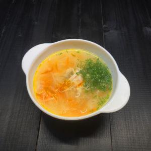 Суп-лапша домашняя на курином бульончике