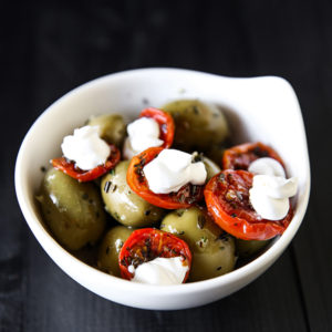Оливки отборные испанские с вялеными томатами
